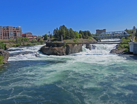 Canada Island in Spokane Washington