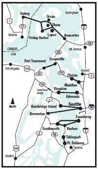 Washington State Ferry Routes