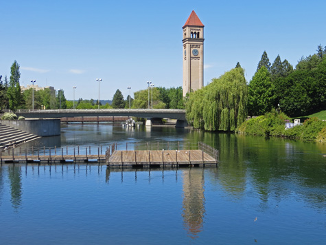 Clock Tower in Spokane Washington