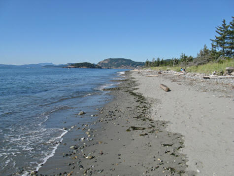 Beach at Whidbey Island State Park